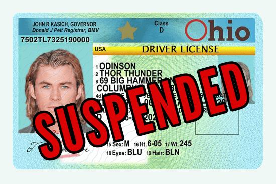 Ohio Suspended Drivers License