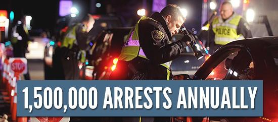 1,500,000 dui arrests