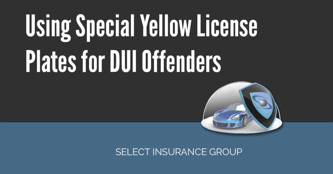 Using Special Yellow License Plates for DUI Offenders